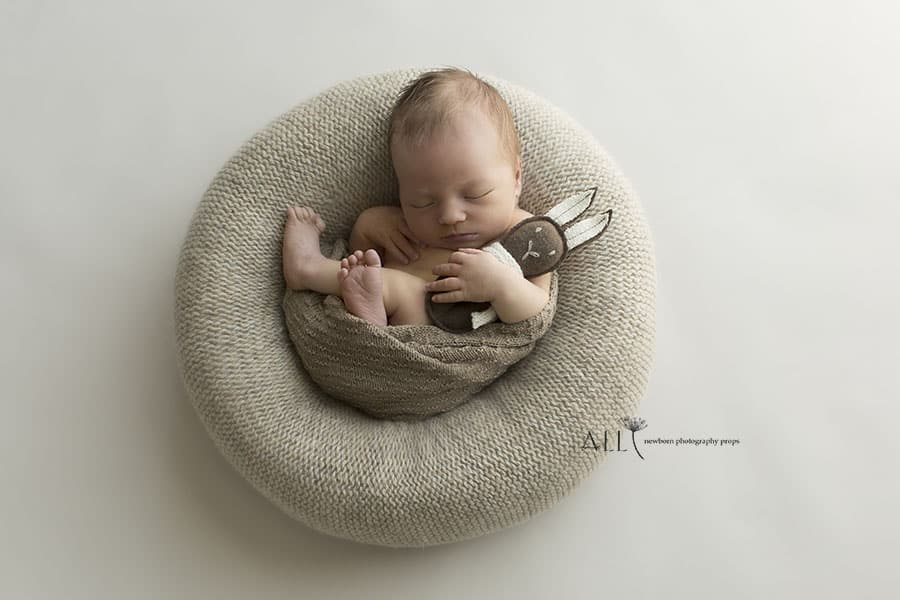 27-2-create-a-nest-posing-ring-cushion-pillow-knitted-cover-wrap-mini-bunny-toy-softie-all-newborn-props-photo-photography-prop-brownberry