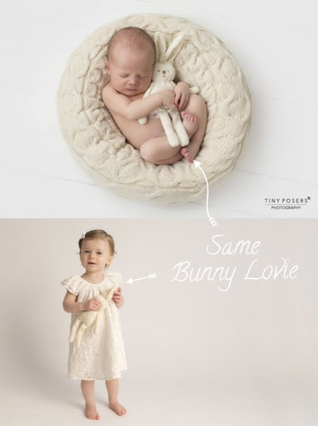 Use this fluffy bunny lovie for newborn 3 month 6 month 9 month and 1 year sessions