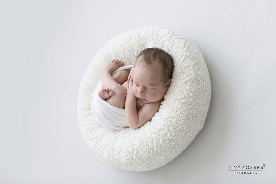 Hudson create a nest all newborn props